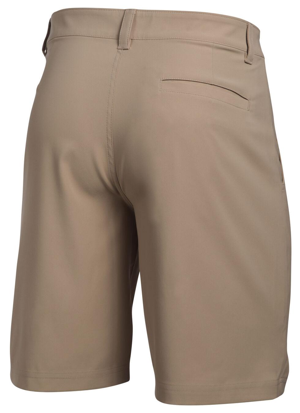 Under Armour Men's Fish Hunter Flat Front Shorts, Sand, hi-res