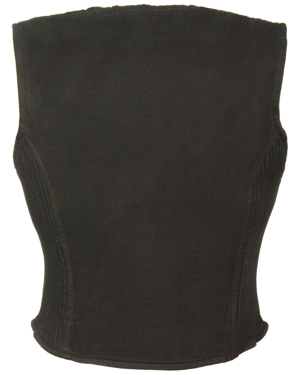 Milwaukee Leather Women's Side Stretch Zipper Front Denim Vest - 4X, , hi-res