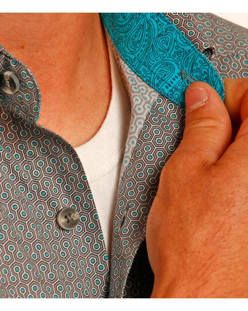 Tuf Cooper Performance Men's Grey Short Sleeve Shirt , Grey, hi-res