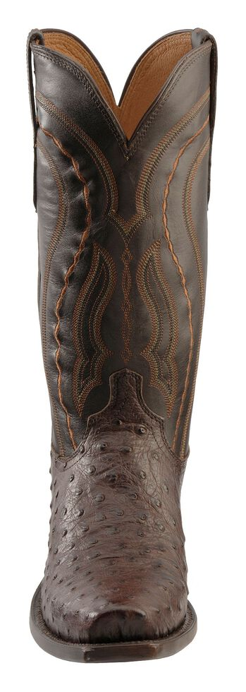 Lucchese Men's Handmade 1883 Montana Western Full Quill Ostrich Cowboy Boots - Snip Toe, , hi-res