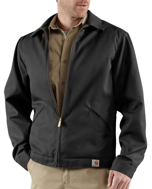 Carhartt Midweight Quilt-Lined Twill Work Jacket, Black, hi-res