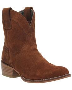 Dingo Women's Whiskey Brown Tumbleweed Leather Western Fashion Bootie - Round Toe , Dark Brown, hi-res