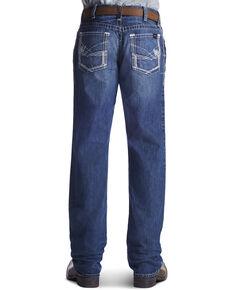 Ariat Men's Fire-Resistant M4 Ridgeline Bootcut Work Jeans, Denim, hi-res