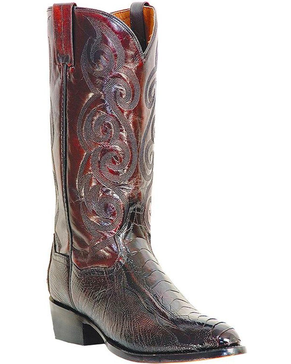 Dan Post Ostrich Leg Boots - Medium Toe, Black Cherry, hi-res