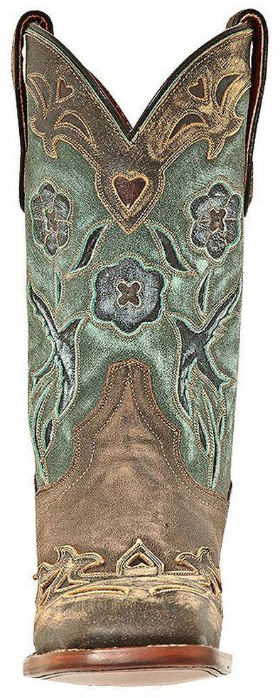 Dan Post Blue Bird Cowgirl Boots - Square Toe, Copper, hi-res