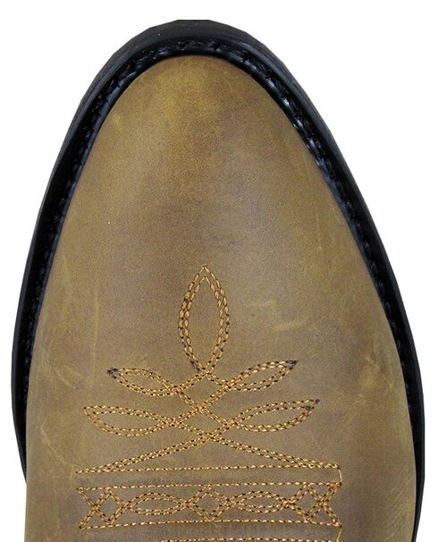 Smoky Mountain Men's Distressed Denver Cowboy Boots - Round Toe, Brown, hi-res