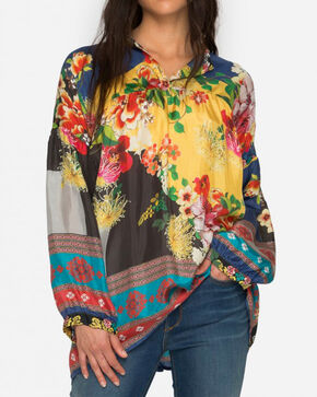 Johnny Was Women's Aura Peasant Blouse , Multi, hi-res