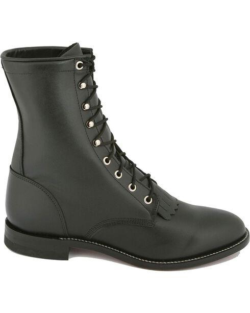 Justin® Original Lacer Cowboy Boots - Round Toe, Black, hi-res