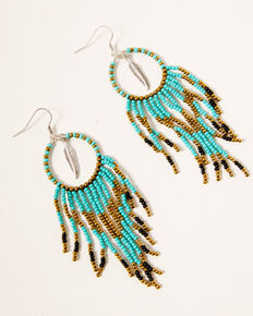 Idyllwind Women's Side Tracked Beaded Earrings, Turquoise, hi-res
