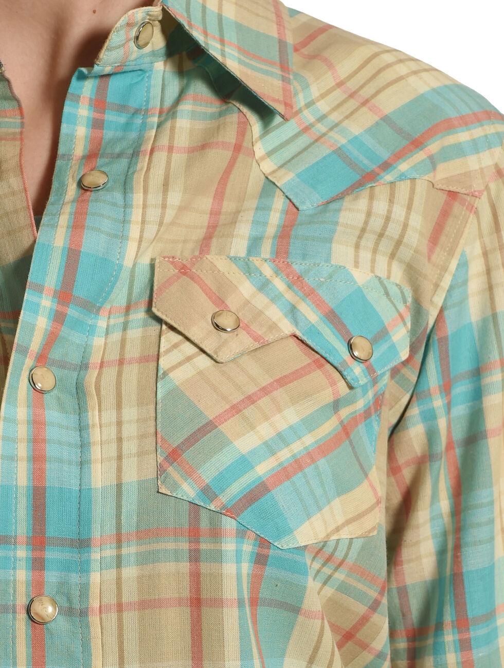 Tasha Polizzi Women's Blue Long Sleeve Warrior Shirt, Blue, hi-res