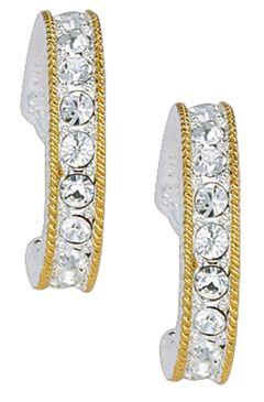 Montana Silversmiths Crystal Shine Cuff Earrings, Silver, hi-res