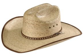 Resistol Brush Hog Mexican Palm Straw Cowboy Hat, Natural, hi-res