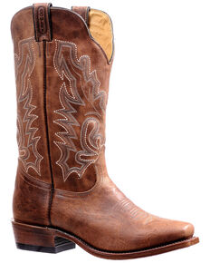 Boulet Men's Cutter Toe Western Boots, Brown, hi-res