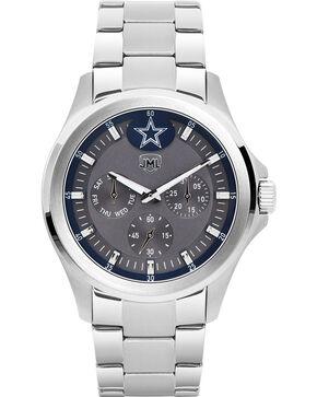 Jack Mason Men's Silver Dallas Multi-Function Watch , Silver, hi-res