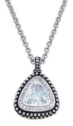 Montana Silversmiths Western Drop Pendant Necklace, Silver, hi-res