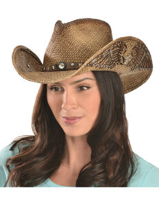 Bullhide Western Inspiration Straw Cowgirl Hat, Multi, hi-res