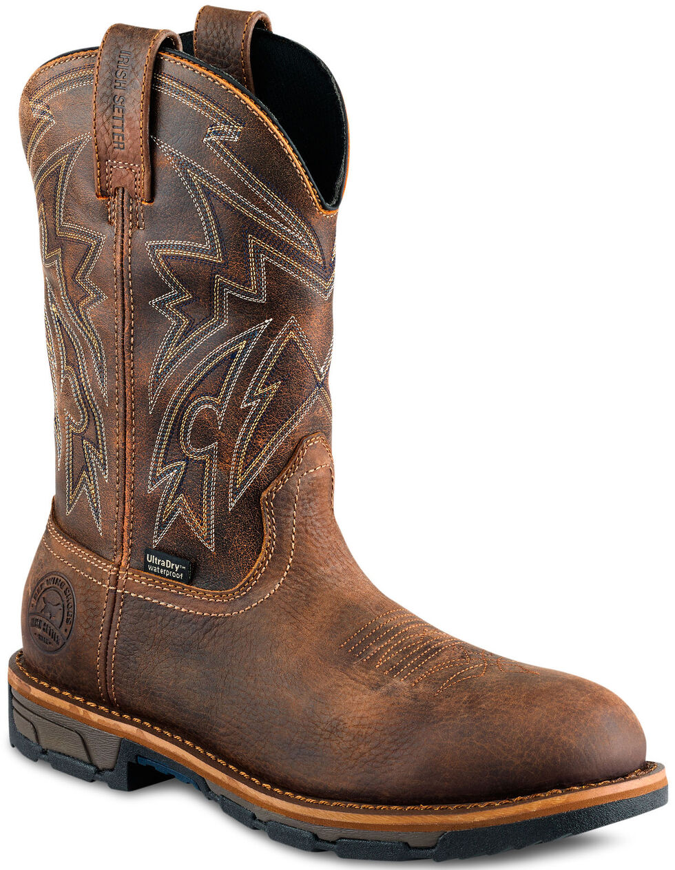 Irish Setter by Red Wing Shoes Men's Distressed Brown Marshall Work Boots - Steel Toe , , hi-res