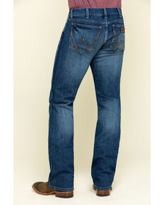 Wrangler Retro Men's Luling Stretch Slim Boot Jeans - Long , Blue, hi-res