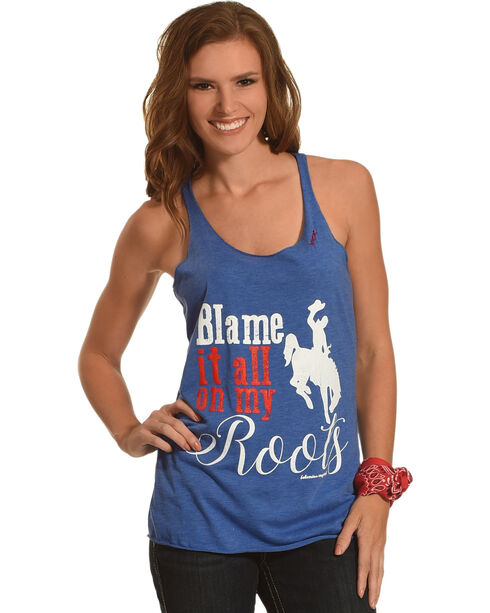 Bohemian Cowgirl Blame It All Tank, Blue, hi-res