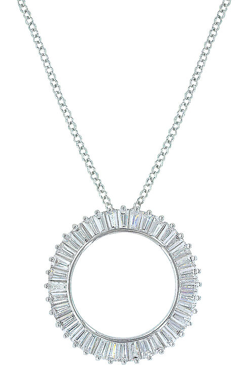 Montana Silversmiths Women's Twilight Halo Circle Necklace , Silver, hi-res