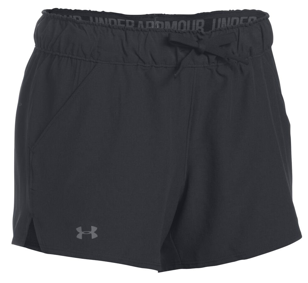 Under Armour Women's Black Hiking Shorts, Black, hi-res