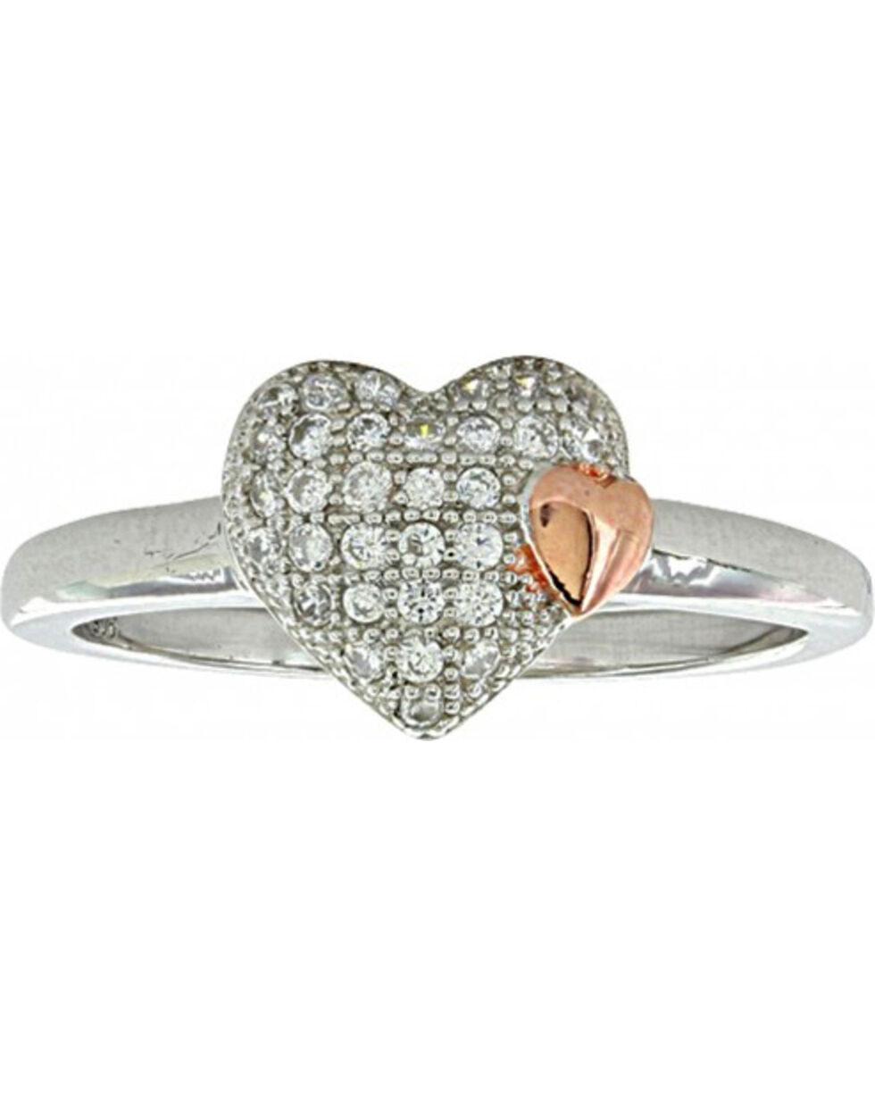 Montana Silversmiths Women's Kindred Heart Ring, Silver, hi-res