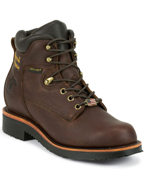 "Chippewa Men's 6"" Lace Up Boots - Round Toe, Walnut, hi-res"