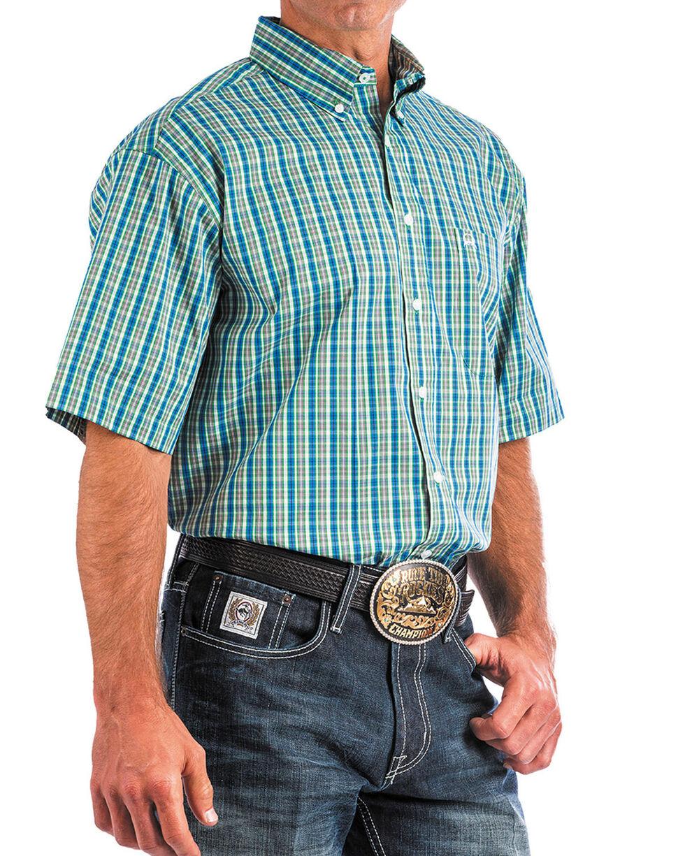 Cinch Men's ArenaFlex Plaid Short Sleeve Button Down Shirt , , hi-res