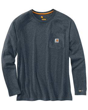 Carhartt Force Long Sleeve Work Shirt - Big & Tall, Slate, hi-res