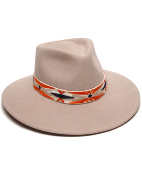 'ale by Alessandra Women's Luna Tribal Hat, Orange, hi-res