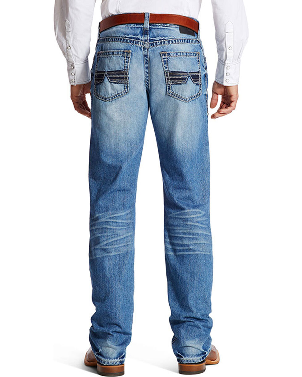 Ariat Men's M4 Shadow Relaxed Fit Boot Cut Jeans, Indigo, hi-res