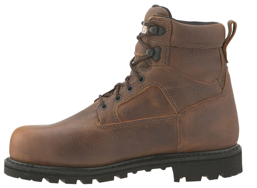 """Rocky Exertion 6"""" Waterproof Work Boots - Steel Toe, Brown, hi-res"""