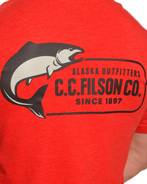 Filson Men's Red Buckshot T-Shirt , Red, hi-res