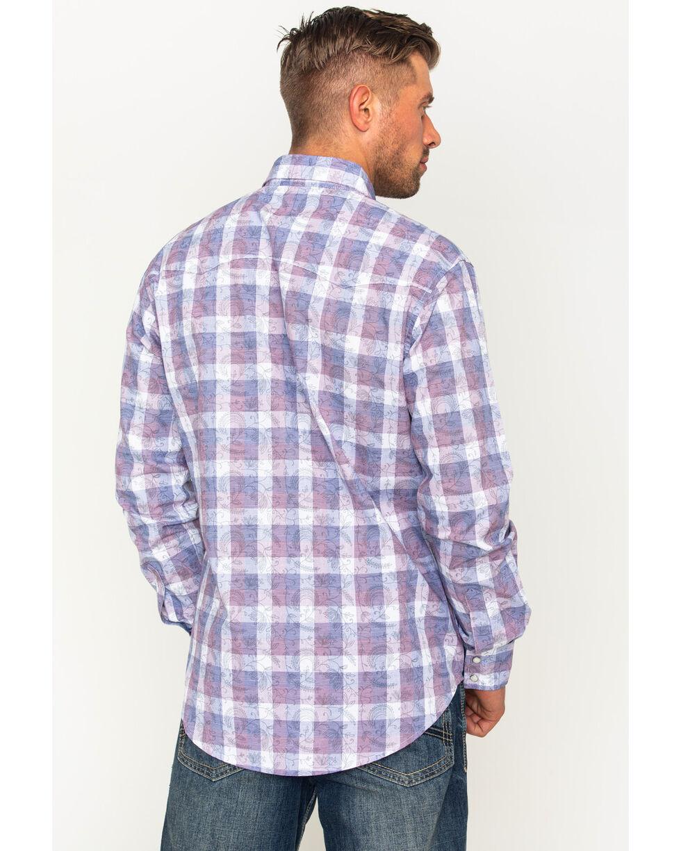 Wrangler Men's Retro Premium Plaid Western Shirt , Navy, hi-res