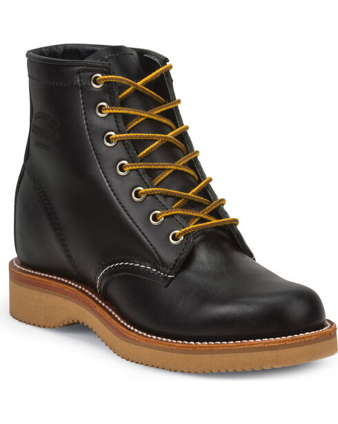 """Chippewa Women's Whirlwind 6"""" Lace Up Boots - Round Toe, Black, hi-res"""