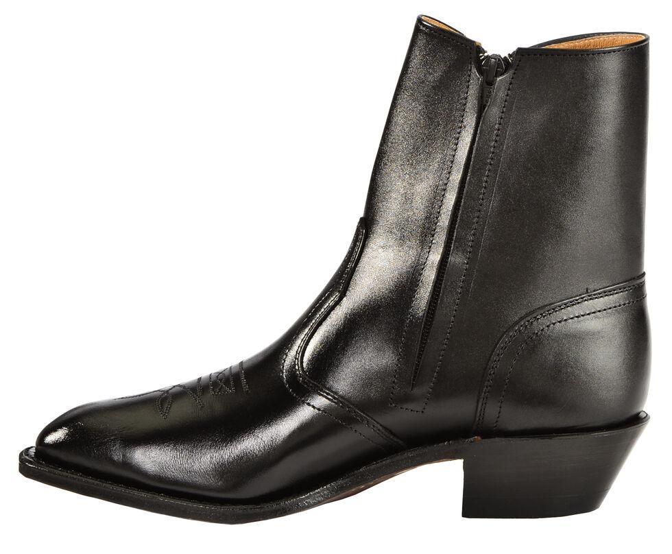 Boulet Side Zip Ankle Boots - Square Toe, Black, hi-res
