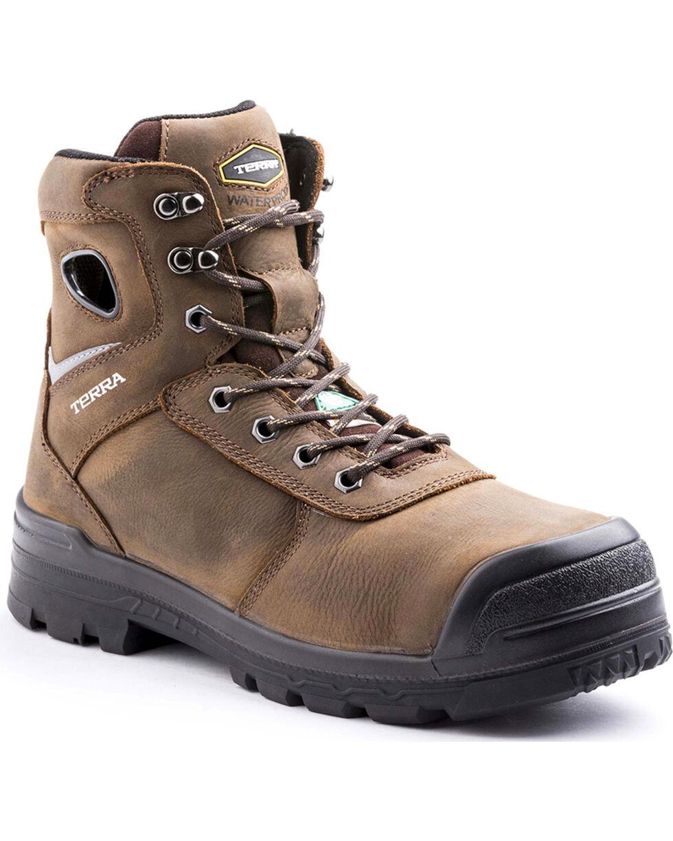 Terra Men's Marshal Work Boots - Composite Toe, Brown, hi-res