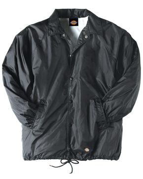 Dickies Snap Front Nylon Jacket, Black, hi-res