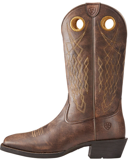 Ariat Men's Brown Heritage Hitchrack Western Boots - Square Toe , Brown, hi-res