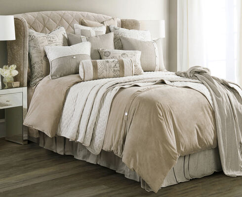 HiEnd Accents Fairfield King Coverlet Set, Sand, hi-res
