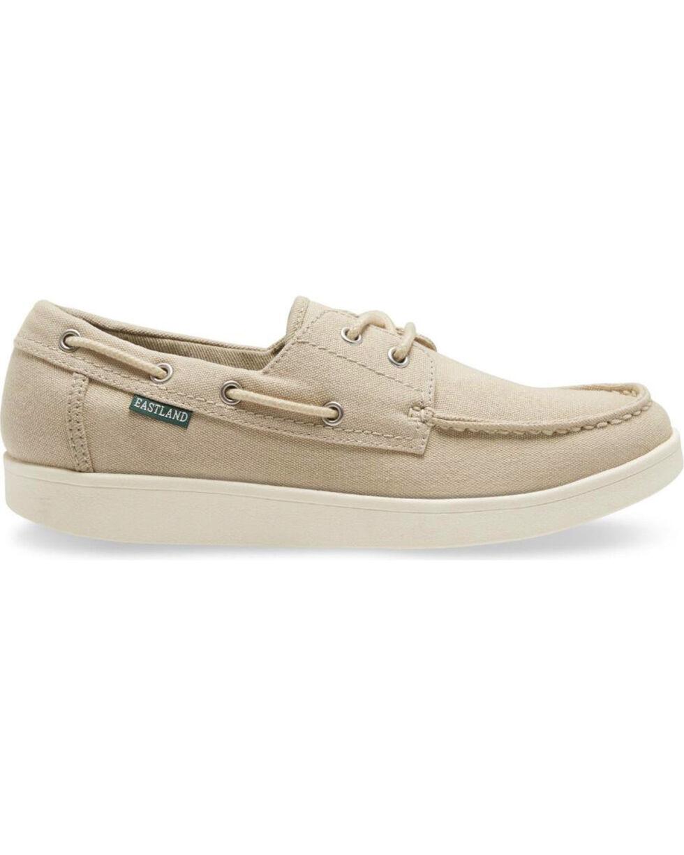 Eastland Men's Popham Canvas Boat Shoes - Moc Toe, Beige/khaki, hi-res