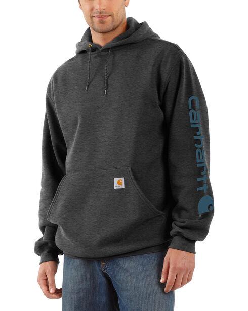 Carhartt Logo Hooded Sweatshirt, Grey, hi-res