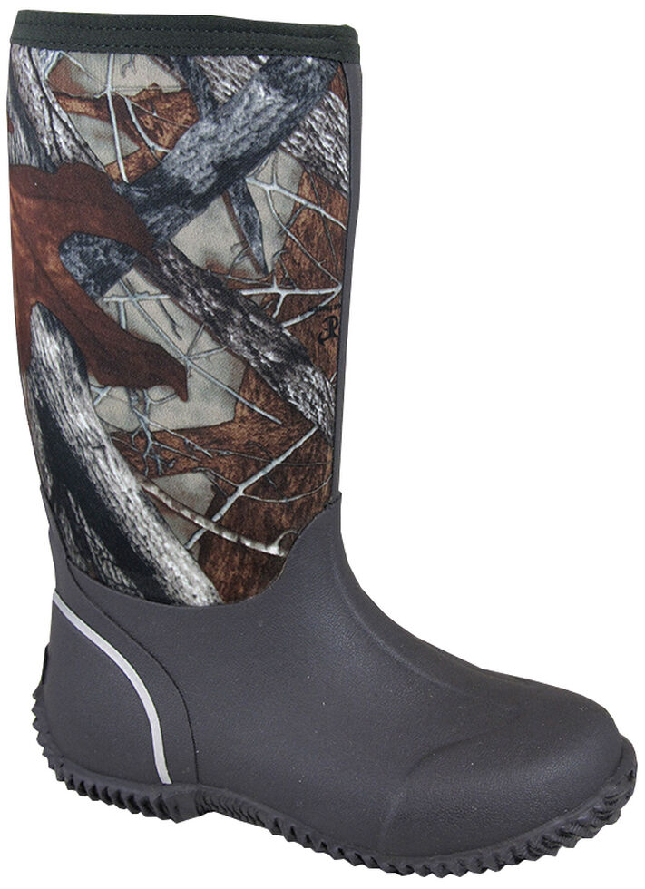 Smoky Mountain Youth Boys' Amphibian Camo Waterproof Boots, Brown, hi-res