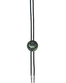 And West Men's Canada Maple Leaf Bolo Tie, Gold, hi-res