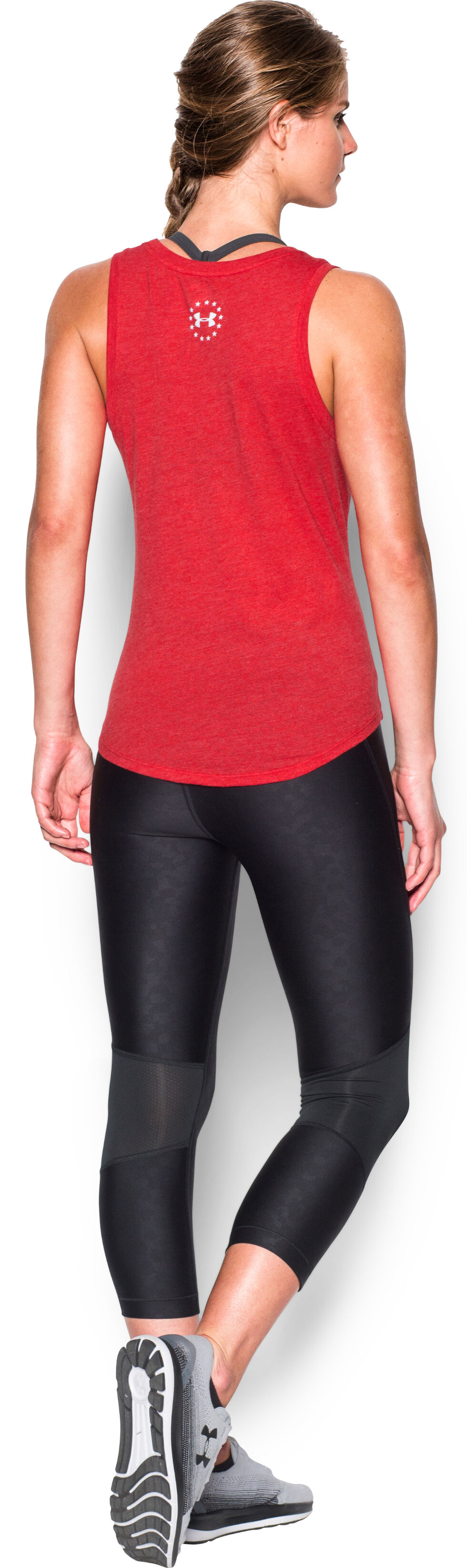 Under Armour Women's Red Charged Cotton® Tri-Blend Freedom Brave Tank, , hi-res