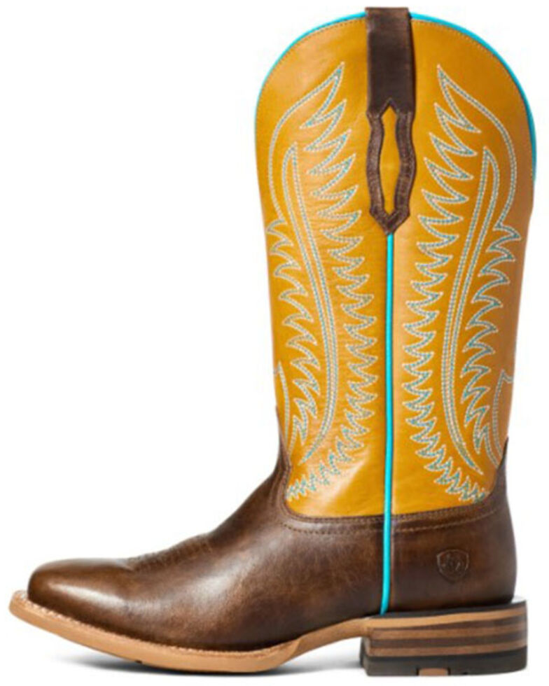 Ariat Women's Belmont Western Boots - Wide Square Toe, Brown, hi-res