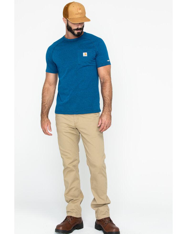 Carhartt Force Men's Cotton Short Sleeve Work Shirt - Big & Tall, Navy, hi-res