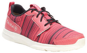 Ariat Youth Girls' Fuse Pink Serape Mesh Shoes, Pink, hi-res