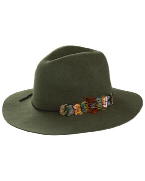 Peter Grimm Women's Bridget Olive Wool Felt Hat, Olive, hi-res