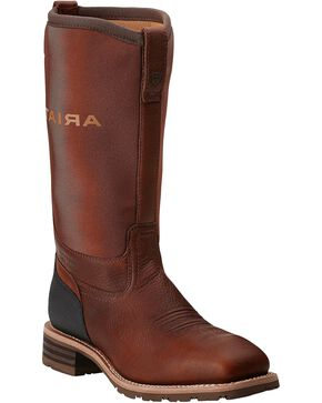 Ariat Hybrid All Weather Waterproof Neoprene Work Boots - Steel Toe, Oiled Rust, hi-res